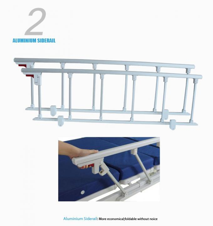 Luxury Manual Electric Adjustable Beds , Multifunction Intensive Care Bed With Back Raise Function