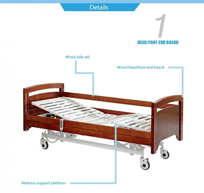 Safety Home Hospital Folding Bed , Electric Adjustable Beds 300 Kgs Weight Limit