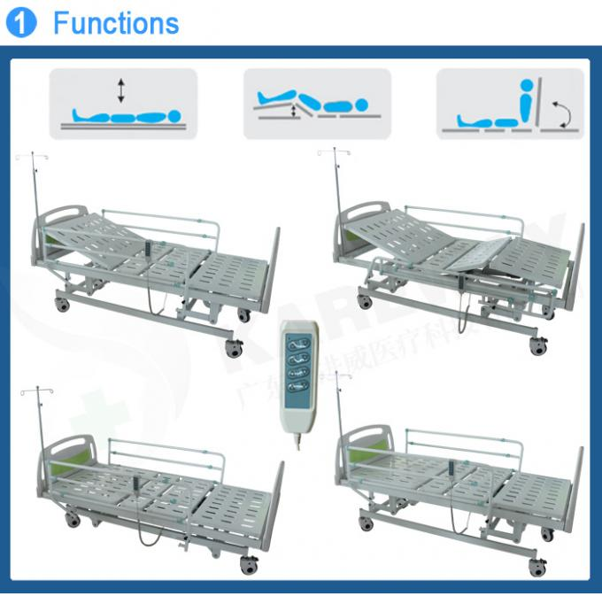 Three Functions Electric Medical Bed With Dining Table , MOTECK Motor