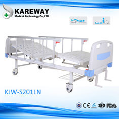 China Aluminum Side Rails Manual Hospital Bed 2 Cranks With CE Approved , 1.2mm Thickness supplier