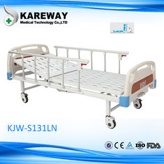 China Powder Coated Steel Motorized Hospital Bed , 5 Inches Castors Electric Hospital Beds With Side Rails supplier