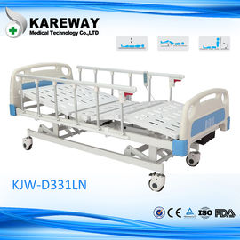 China Plastic Cranks Hospital Patient Bed 3 Functions , Clinic / Medical Equipment Bed supplier