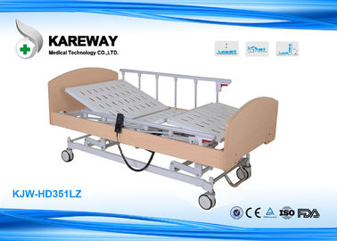 China CE FDA Wooden Frame Homecare Hospital Beds Three LINAK Motors With Central Lock supplier