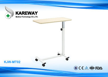 China Adjustable Hospital Type Bedside Table Dining Table With 3 Inch Caster supplier