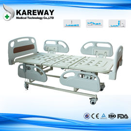 China 4 Inches Castors Hospital Patient Bed Three Functions With ABS Plastic Mattress supplier