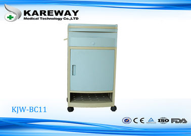 China Elegant Light Blue Hospital Bedside Table Cabinet With Shoe Shelf KJW-BC11 supplier