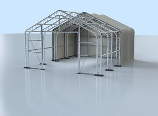 China White Large Temporary Hospital Tent Stable Performance Customized Size supplier