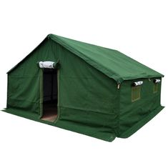 Virus Isolation Emergency Shelter Tent , Green Military Disaster Relief Tent
