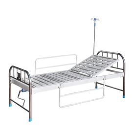 Incline Two Crank Hospital Patient Bed With Aluminum Alloy Side Rails
