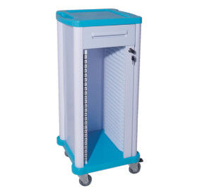 Low Noise Medical Record Cabinet High Performance Movable Files Storage Trolley