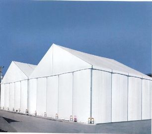 Large Fireproof Temporary Tent Buildings , PVC Fabric Marquee White Event Tent