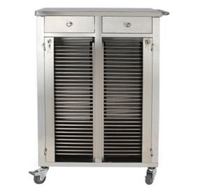 Double Row Medical Record Cabinet Clip Cart Thick 760 * 580 * 1000mm Size
