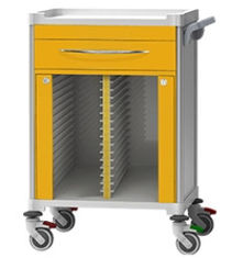 Powder Coated Medical Record Cabinet Furniture Stainless Steel Material