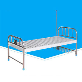 2080 * 900 * 500mm Flat Hospital Patient Bed Equipment Metal Material