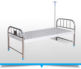 Flat Height Adjustable Bed For Patients , High End Hospital Bed With Wheels