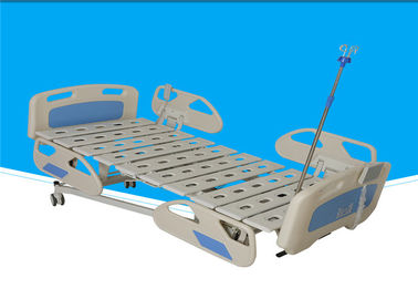 Flexible Mobile Hospital Bed , 0 - 75 ° Icu Patient Bed With ABS Side Rails