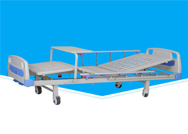 2130 * 960 * 500mm Manual Hospital Bed 0 - 75 ° Back Section Lifting Angle