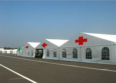 Water Resisitant Hospital Emergency Tent , White Heavy Duty Steel Frame Canopy