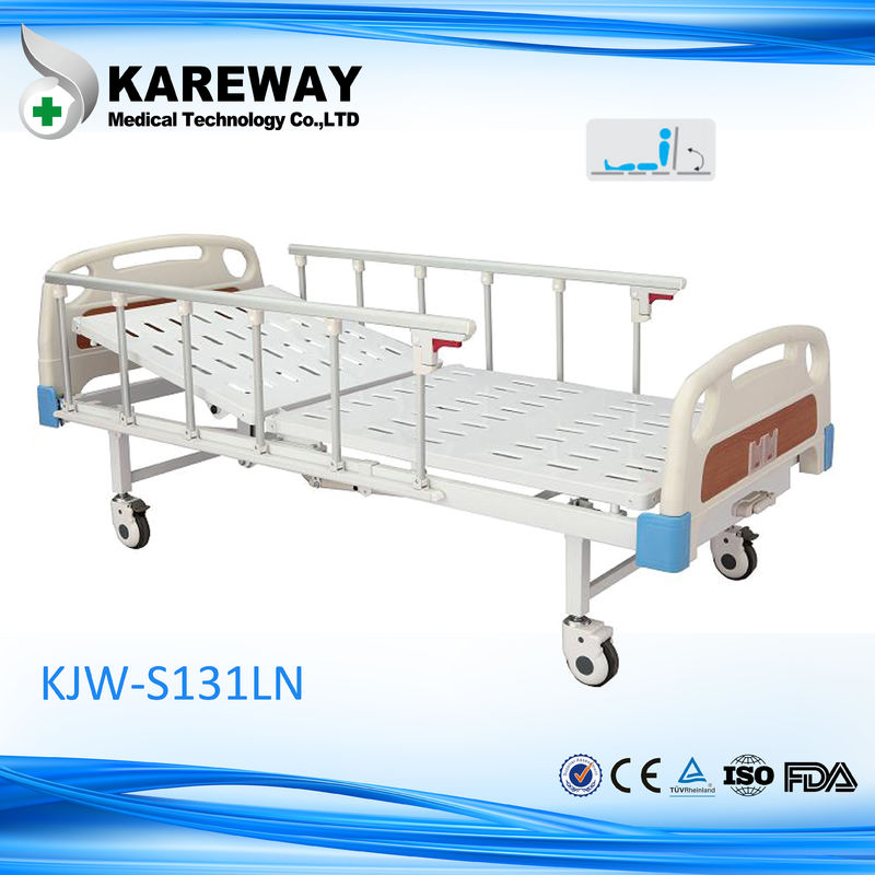 Powder Coated Steel Motorized Hospital Bed 5 Inches Castors Electric Hospital Beds With Side Rails