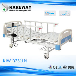 Safety 2 Motors Electric ICU Bed , High Low Bed Hospital Bed With TPR Castor