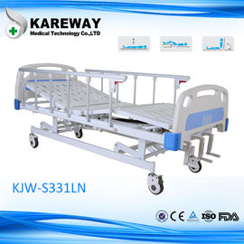 3 Cranks Motorized Hospital Bed , Full Electric Hospital Bed For Home Use