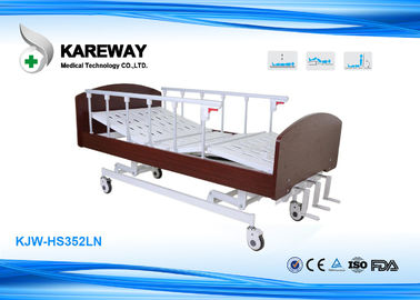 Nursing Home Pink Homecare Hospital Beds Smooth Operation With Pinch - Free Design