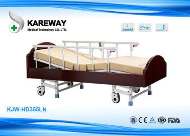 3 Functions Homecare Hospital Beds Nursing Bed With Solid Wood , Metal Material