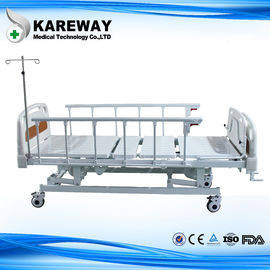 Aluminum Side Rails Manual Hospital Bed 3 Cranks with Dining Table for Private Hospital