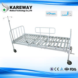 Square Tube Platform Manual Hospital Beds Double Crankset With IV Pole , Ease Handling