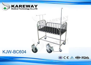 Strong Durable Pediatric Hospital Beds Anti Rust Stainless Steel Pediatric With Net Frame And Mattress