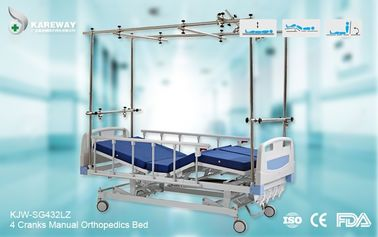 Strong Durable Orthopedic Adjustable Bed Stainless Steel Frame With Central Locking Castors