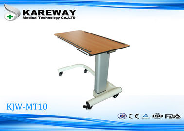 Home Care Movable Hospital Tray Table , Overbed Hospital Table With Aluminum Column KJW-MT10