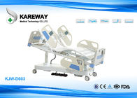 Plastic Guard Rails Five Functions Medical Hospital Beds Built In Controller With Columns Motors