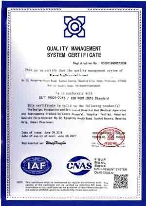 China Eternal Top Industrial Limited Certification