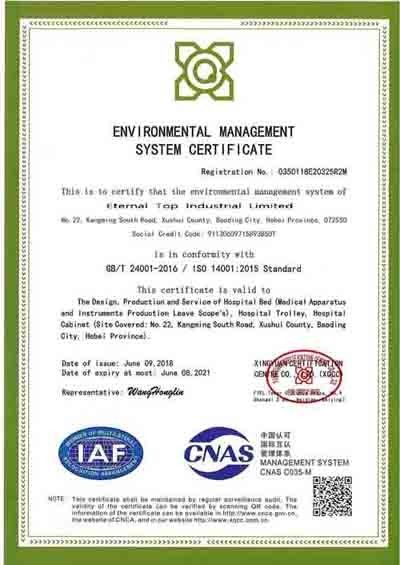 China Eternal Top Industrial Limited Certifications