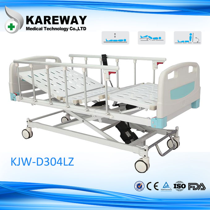 Silent Safe Lock ICU Hospital Bed With X Structure Based , Multi - Angle Motion